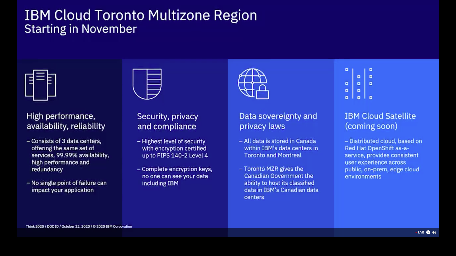 IBM Coud Toronto Multizone Region