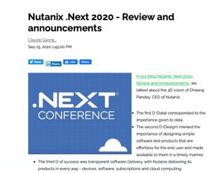 Nutanix Next 2020