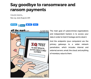 Say Goodbye to Ransomware and ransom Payments
