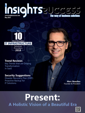 Present on the cover of Insights Success