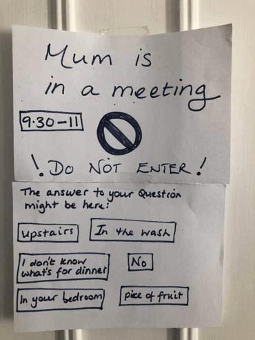Ne pas déranger les parents lors d'un meeting